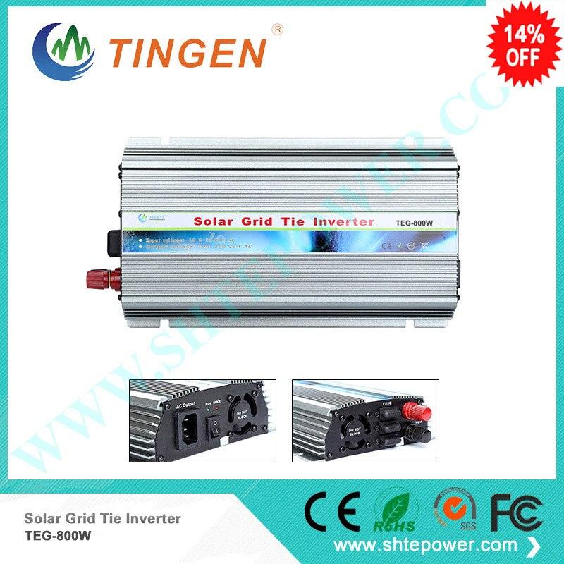 800W MPPT On grid tie inverter DC 10.8-28V for Home PV solar system AC 110V 220V output Pure sine wave output