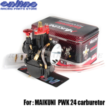 24mm Universal Carbs for Mikuni Maikuni PWK24 Carburetor Parts Scooters With Power Jet Motorcycle ATV 4T Engine Quality