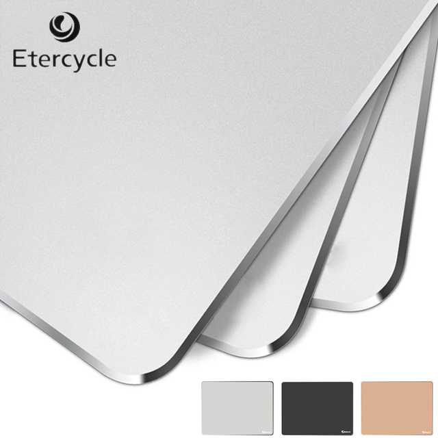 Etercycle High Precision Aluminum alloy Comfortable Luxury Mouse Mat 18*24cm*3mm Metal Mouse Pad for High-end Gamers