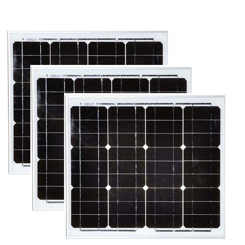 Solar Module Panel 18v 30w 3 Pcs Solar Panels 90 Watt 48