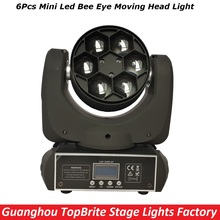 2017 High Quality 6*15W RGBW 4IN1 LED Mini Bee Eye Beam Light DMX512 Moving Head Light For Stage Dj Disco Laser Light Projector