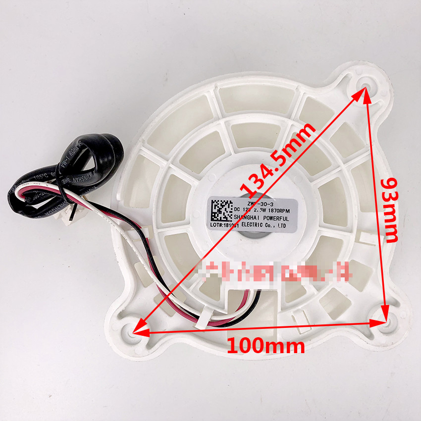 Image 3 - NEW Refrigerator parts fan fan motor ZWF 30 3 DC12V 2.5W 1870RPM-in Refrigerator Parts from Home Appliances