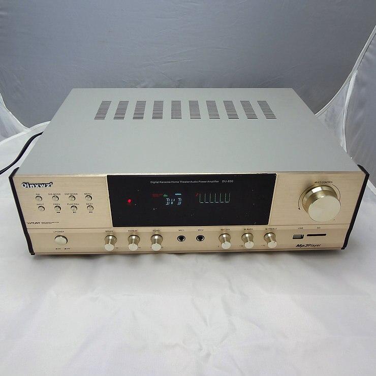 все цены на DU-830 5 channel amplifier digital household Karaoke OK large power amplifier with USB SD card remote control amplifier онлайн