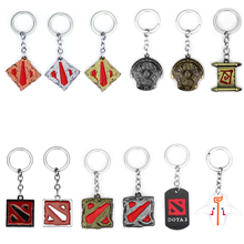 Game Dota 2 Keychain Alloy Immortal Champion Shield Bronze Metal Key Rings For Gifts Chaveiro Key Chain Dropshipping classic game wow world of warcraft lion keychain antique bronze demon king head metal shield charms key pendant chaveiro jewelry