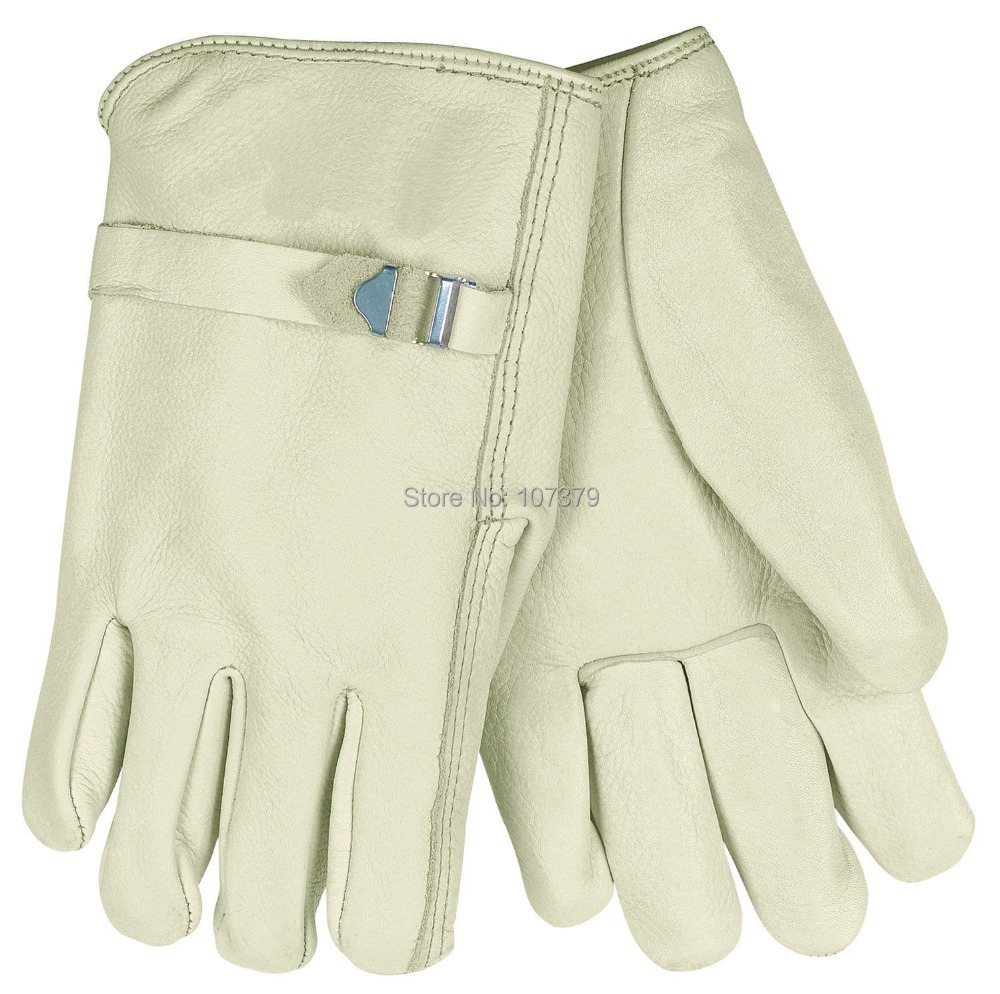 Good quality leather work gloves - Leather Work Gloves Leather Mechanican Glove Welding Gloves Comfoflex High Quality Cow Grain Leather Driver Gloves