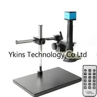HD 1080P 16MP USB Digital Microscope Camera Kit + Adjustable Angle Boom Stand + 180X / 300X C Mounting Lenses + 144 LED Lights