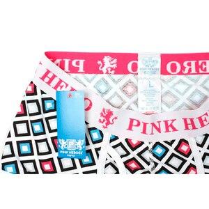 Image 5 - 4 pçs/lote cor de rosa herói moda dos homens boxers algodão homem cueca bolsa u exquisit shorts masculino homme cueca boxer hombre colorido