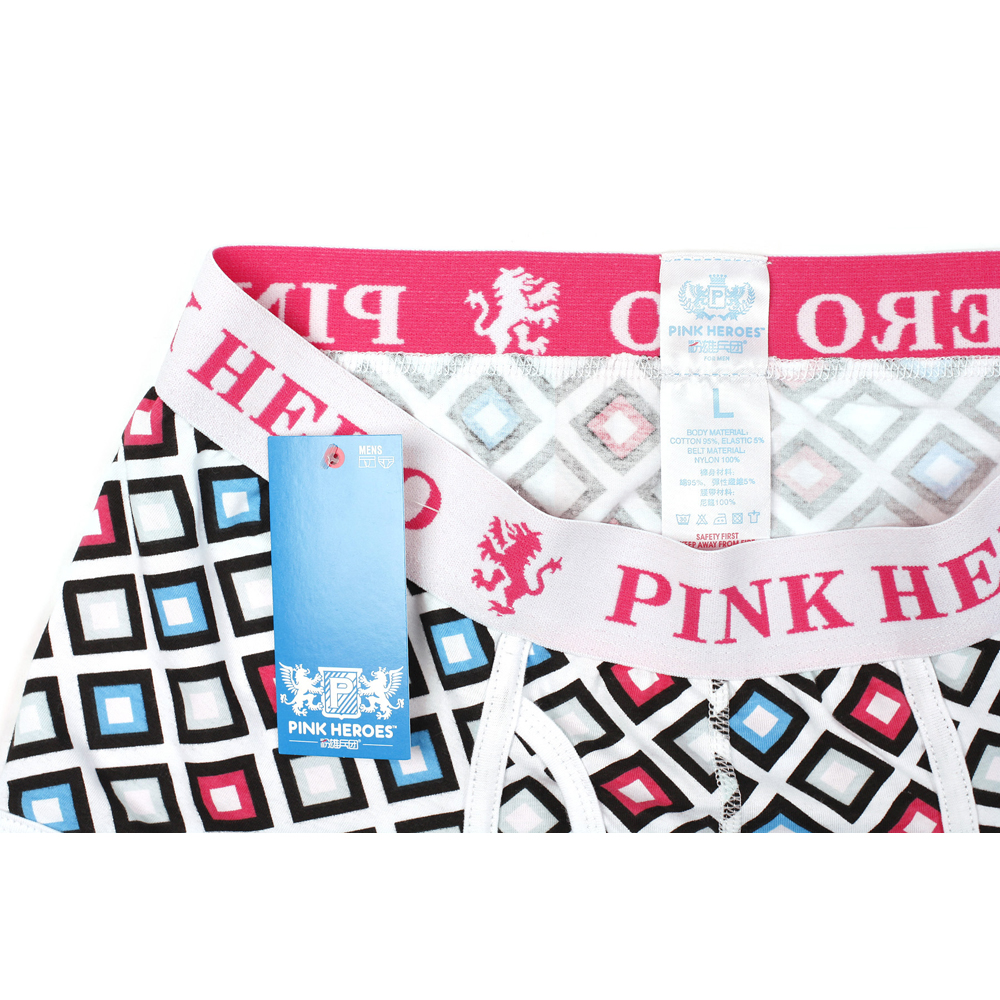 Image 5 - 4Pcs Pack/Lot Pink Hero Fashion Mens Boxers Cotton Man Underwear Pouch U Exquisit Shorts Male Homme Cueca boxer hombre Colorful-in Boxers from Underwear & Sleepwears