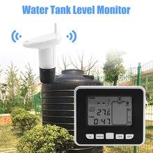Ultrasonicไร้สายถังน้ำระดับเซนเซอร์อุณหภูมินาฬิกาปลุกLiquidระดับความลึกวัดเครื่องมือ