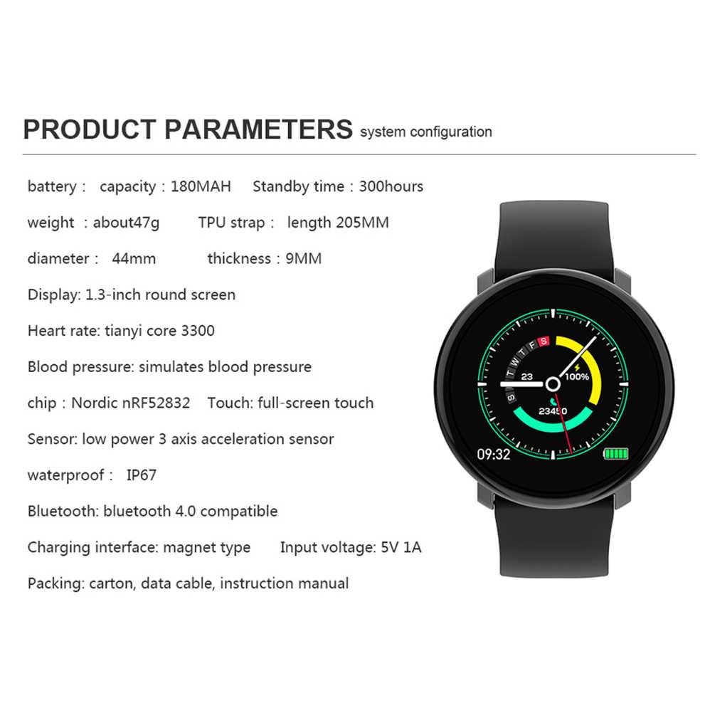 GEJIAN M31 Смарт-часы полный экран сенсорный IP67 Водонепроницаемый фитнес-трекер монитор сердечного ритма Smartwatch для Android и iOS телефона