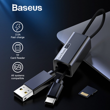 Baseus 2 in 1 OGT TF Card Reader USB Type C Cable For Samsung S9 Note 9 Macbook Fast Charging Data Cable USB-C Charger Adapter
