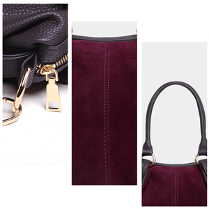 Image 5 - Nico Louise Women Real Suede Leather Boston Bag Original Design Lady Shoulder Traveling Doctor Handbag Top handle Bags Sac