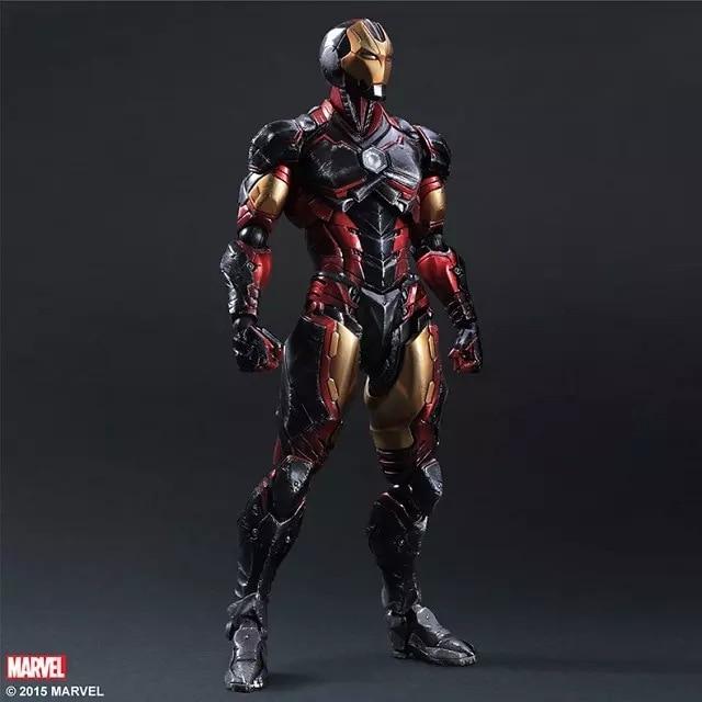 все цены на Play Arts Marvel 25cm Iron Man Super Hero Ironman Action Figure Toys онлайн