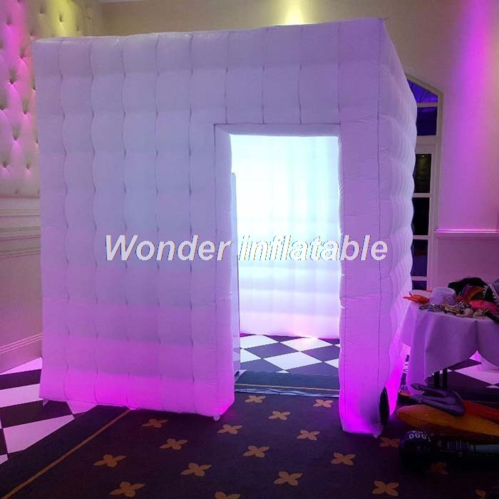 <font><b>Portable</b></font> led gonfiabile photo booth per la cerimonia nuziale <font><b>photobooth</b></font> cubo trade show tenda gonfiabile per evento image