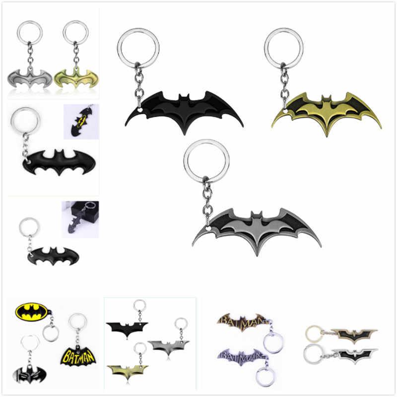 DC Comics superhéroes Batman Bat colgantes llavero película joyería llavero llaveros Regalos recuerdo