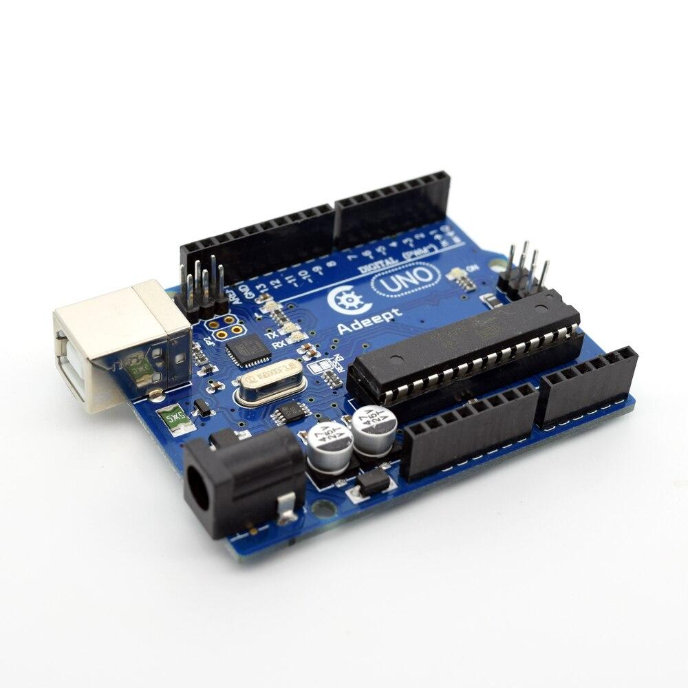 Adeept New Arduino UNO R3 Board ATmega328P ATmega16U2 Free USB Cable For Arduino Freeshipping