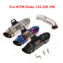 Duke 125 250 390 RC 390 Motorcyle Exhaust Pipe System Muffler Tip Pipe Mid Link Connect Tube for KTM Duke 125 250 390 2017 2018 недорого