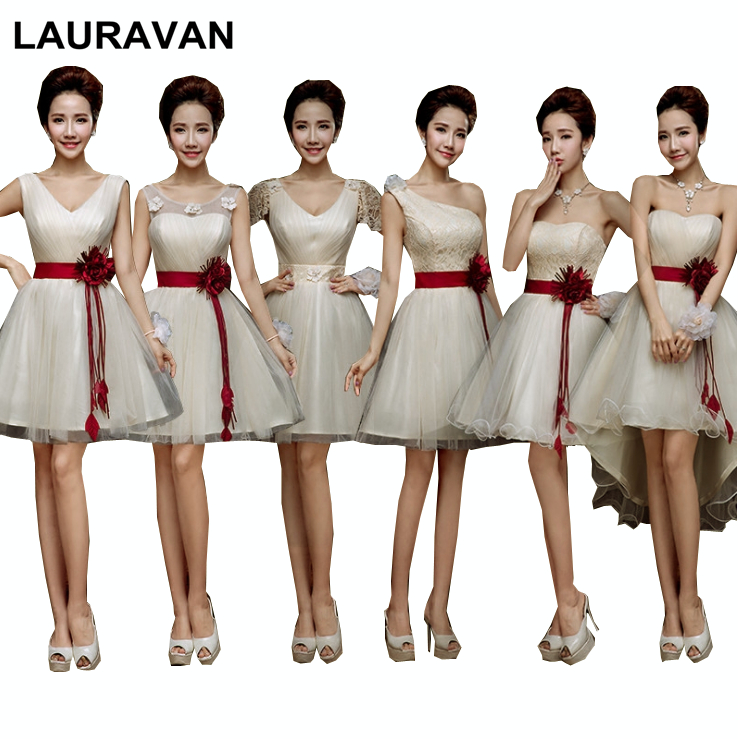 Junior Vintage Champagne Girls Elegant Bridesmaid Dress Beautiful Cheap Party Ball Gown Dresses Size 6 For Weddings