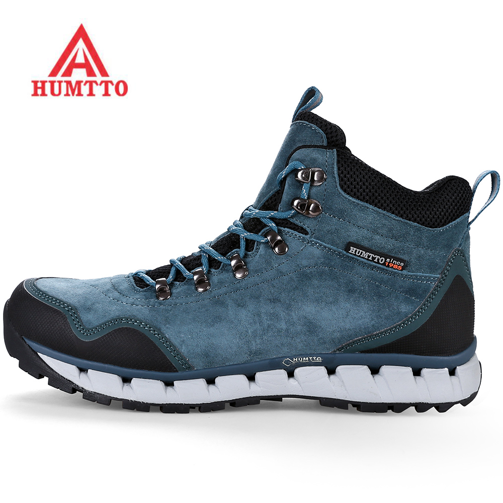 HUMTTO Men's Winter Leather Outdoor Hiking Trekking Boots Shoes Sneakers For Men Cushioning Climbing Mountain Shoes Boots kerzer outdoor shoes men autumn winter hiking boots slip on trekking shoes leather mountain climbing sneakers