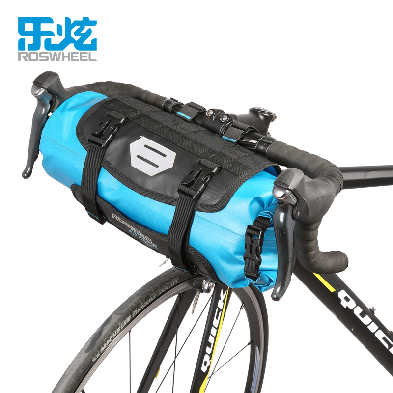 цена на ROSWHEEL Bicycle Front Tube Bag Bike Handlebar Bag Pack Baskets Cycle Cycling Storag Frame Pannier Accessories ATTACK SERIES