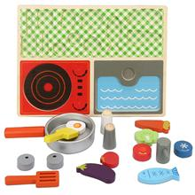 Simulation Breakfast Kitchen Set Baby Pretend Play Wooden Food Cooking Educational Toy