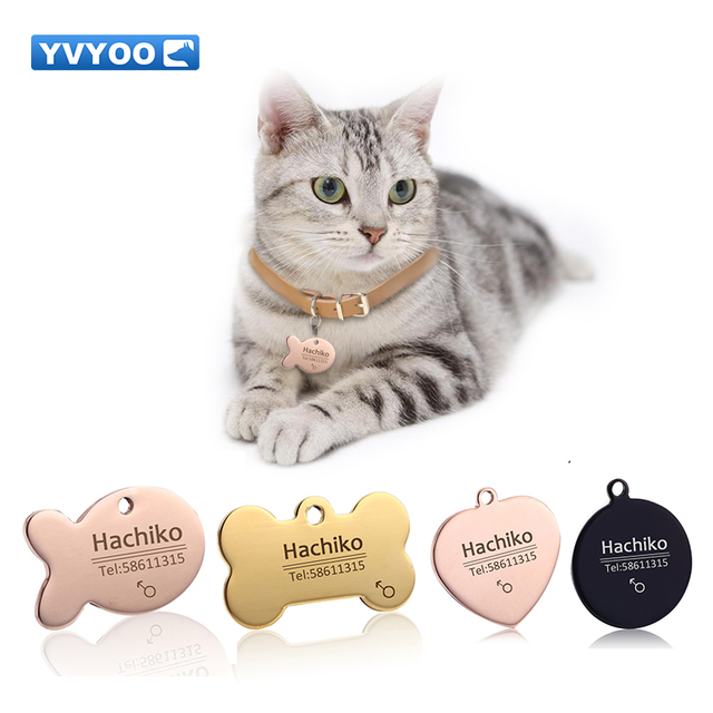 yvyoo pet cat dog collar accessories decoration pet id dog tags