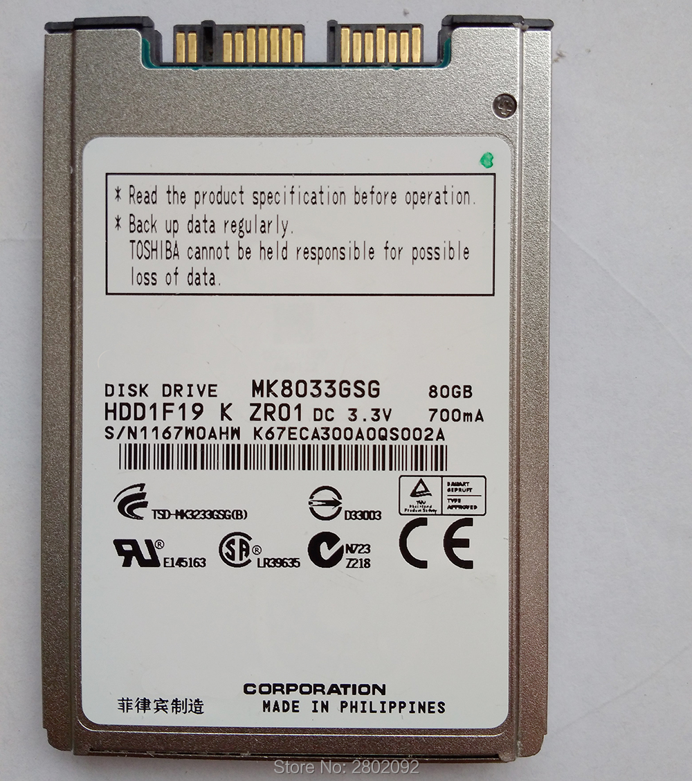 New 120gb Hdd 1.8 Microsata Mk1233gsg For 2740p 2730p 2530p 2540p X300 X301 T400s T410s Replace Mk2529gsg Mk1633gsg Cable Winder Digital Cables