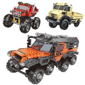 Image 2 - 500 + pcs רכב סדרת טרקטורון סט בניין בלוקים לבני מודל צעצועים לילדים חינוכיים מתנות תואם עם בלוק
