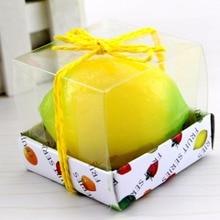 Маленькие размеры фруктовая форма лимонный персик фрукты Ароматизированная свеча украшение дома Рождественская Свеча День рождения День Святого Валентина дневная свеча