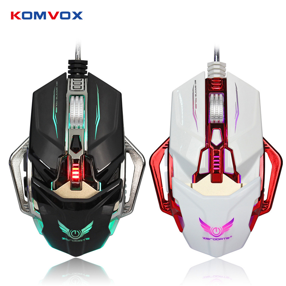Newest LED Light USB Wired Gaming Mouse 8 Button 4000DPI Adjustable LED Laser Mechanical Game Mouse Mice for PC Laptop Gamer industry 9mm female thread quick coupler connector for 4mm inner dia tube
