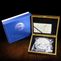 2017 Anno 1000g 1 kg di Peso Cina panda placcato monete D'argento con certificato COA Moneta Animale regalo presente copia
