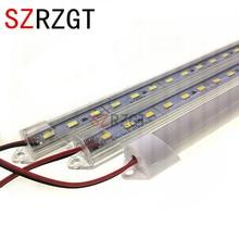 5pcs*50cm DC12V SMD 5730 LED Hard Rigid LED Strip Bar Light Aluminium shell +pc cover LED Bar Light 5730