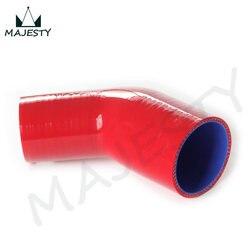 64mm-70mm Racing wąż silikonowy wąż 45 stopni reduktor rura łokciowa intercooler turbo zawiera 1 sztuk czerwony