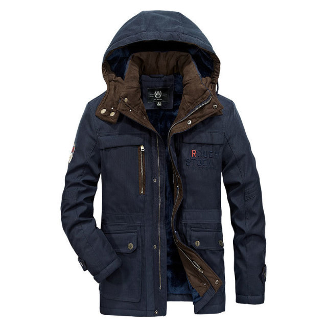 Men's Hooded Parkas Down Jacket Coats Clothes 5XL New 2018 Winter Long Sleeve Father Jackets Cotton Thicken Coat Warm Classic