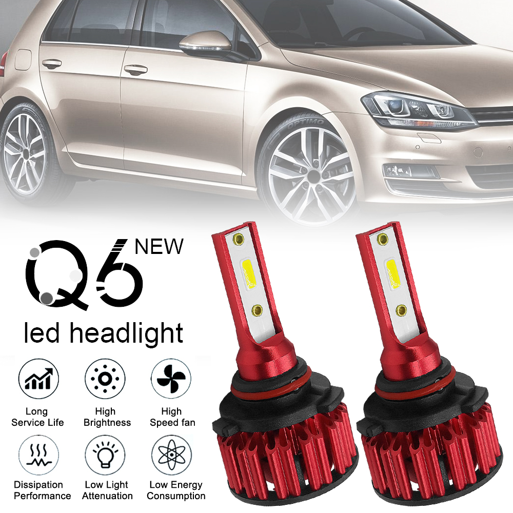 2pcs HB4 9006 Q6 12000LM 6000K 120W DOB LED Car Headlight Bulbs Kit Hi or Lo Light Bulb car accessories for Cars Vehicles in Car Headlight Bulbs LED from Automobiles Motorcycles