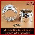 Alta Temperatura Resistente Mini Gatling Gun Mortalhas Máscara Tampa Ganchos Para WST Bixenon H1 2.5 polegada G5 Lente Do Projetor