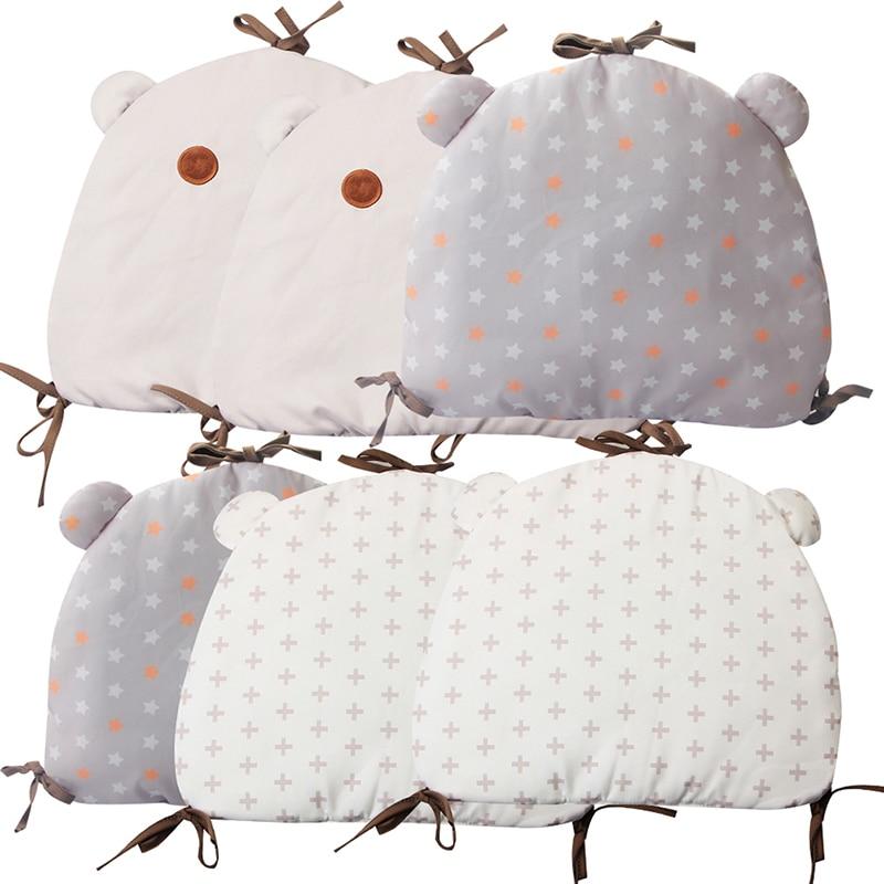 2019 New 6Pcs Baby Bed Bumper Protector Infant Bedding Set Newborn Crib Backrest Toddler Cartoon Animal Bedding