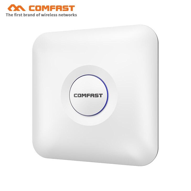 6 pièces COMFAST 5.8 Ghz haute puissance double bande sans fil plafond AP 1300 Mbps RJ45 POE gigabit WIFI routeur pour hôtel wifi couverture AP