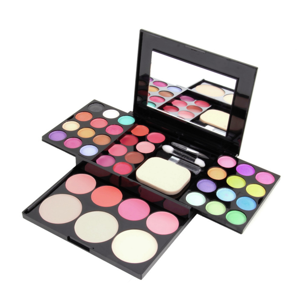 Professional Brand Make Up Palette Set Cosmetics Eyeshadow Lip Gloss Foundation Powder Blusher Puff Tool Kit Maquiagem Hot New