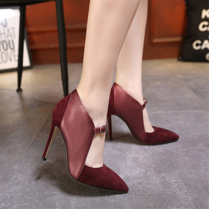 High Quality Unique Women Shoes Stiletto T Strap Pumps Ladies High Heels  Woman High heel Shoes Kitten Heels Plus Size 35 40-in Women s Pumps from  Shoes on ... 3dab9cea7ba9