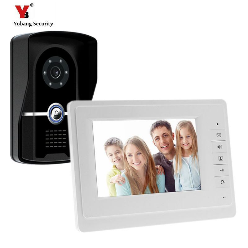 Yobang Security Freeship 7 inch video door phone IR camera video door bell and Night Vision Video Door bell Video intercom yobang security freeship 4 3 inch video door color video monitor kit video intercom and video doorbell ir camera night vision