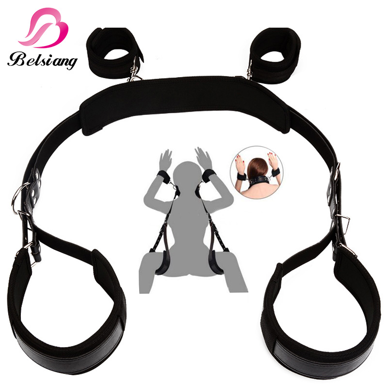 Auxiliary Sex Leather Bondage Restraints Bed For Women Fetish Bdsm Bondage Harness Erotic Game Sex Toys For Couples Sex Products fetish sex furniture harness making love sex position pal bdsm bondage product erotic toy swing adult games sex toys for couples