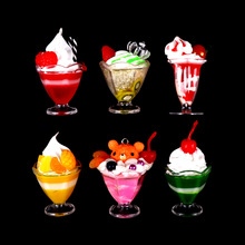 Play-House-Toy Model Ice-Cream-Cups-Set Food-Doll-Accessories Pretend Play Drink Mini