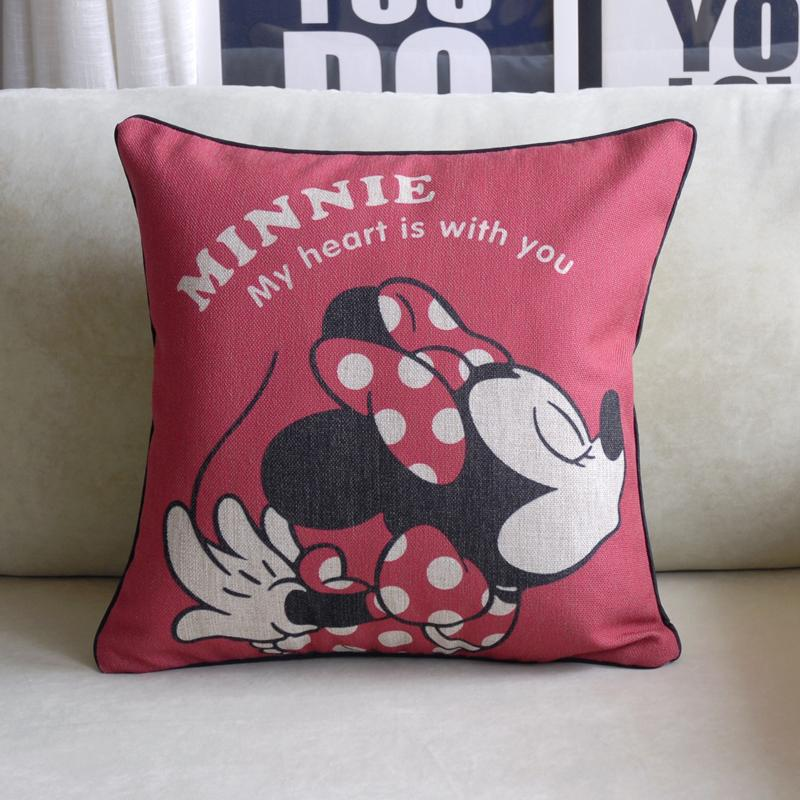 Aliexpress Buy Mickey Pillow Cover Cute Cartoon Creative Enchanting Minnie Mouse Decorative Pillow