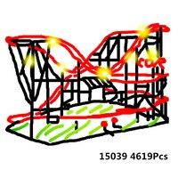 Лепин 15039 4619 шт. девушка площадка Горки Набор Buidling Конструкторы кирпичи малыш игрушечные лошадки Совместимость Legoingly 10261 игрушка в подарок м