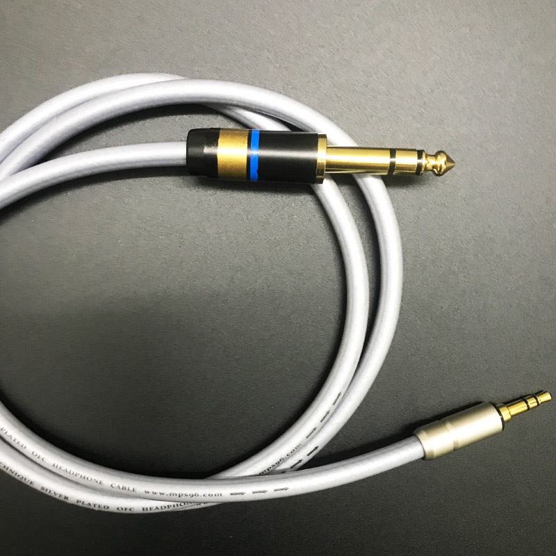 MPS X-22 6.35-3.5 HiFi 99.9997% OFC+ Silver Plated 24K Gold Plated Plug 3.5mm male to 6.35 6.5 6.3male  Headphone Audio cable