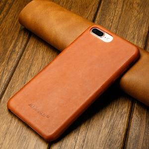 Image 4 - ซองหนังแท้สำหรับ iPhone 7 8 สำหรับ iPhone X Case Jisoncase หนัง Slim Hard Back สำหรับ iPhone 7 8 PLUS 5.5