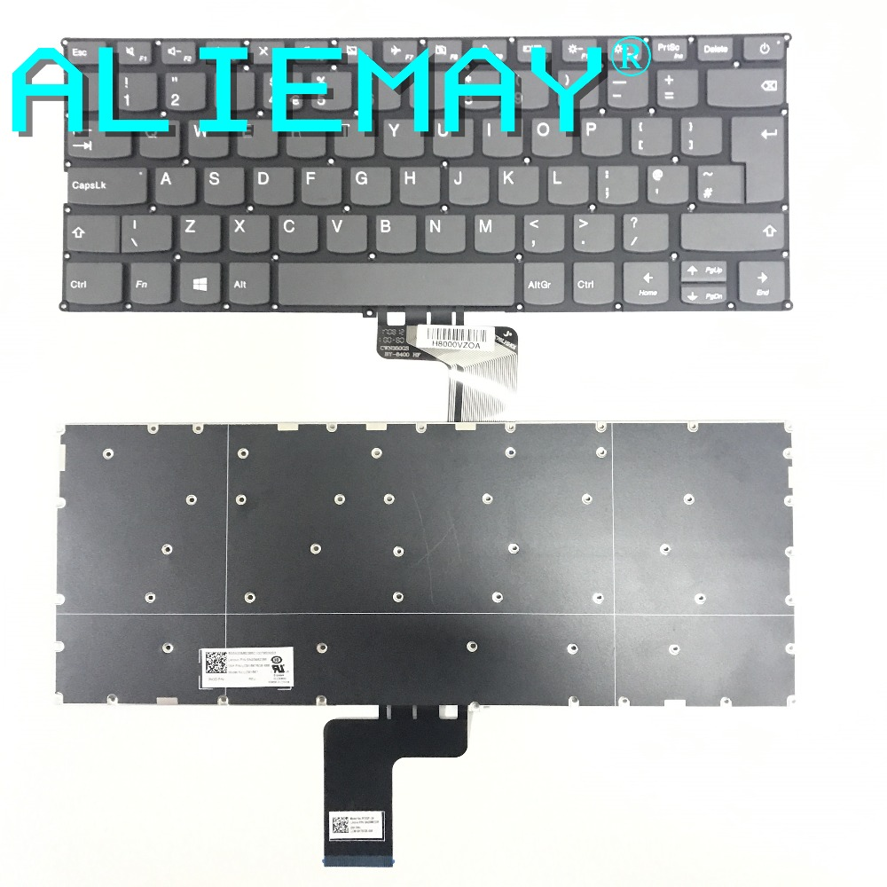 US $12 39 |UK Keyboard for Lenovo IDEAPAD 320S 13 320S IKB 320S ISK XIAOXIN  7000 13 V720 14 UK Keyboard GRAY VER POWER key-in Replacement Keyboards