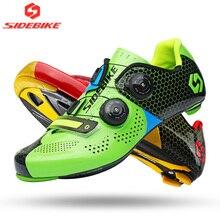 Sidebike шоссейная обувь для велоспорта с углеродистой подошвой обувь для шоссейного велосипеда мужские и женские самоблокирующиеся гоночные велосипедные кроссовки дышащие профессиональные