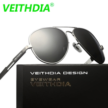 Veithdia Men Brand Logo Driving Polarized Sunglasses 2017 HD Sun Glasses Aluminum Magnesium Alloy oculos de sol male 6695